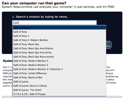 Exemplo de escolha de jogo para Testar - Os jogos de tiro usualmente exigem mais do computador, como Call of Duty