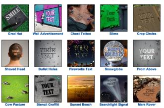 Mais de 500 opções de fotos para fazer montagem com o nome ou texto grátis