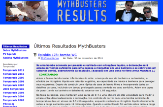 Guia Mythbuster Caçadores de mItos - todos os testes feitos e seus resultados catalogados
