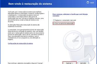 Criando um ponto de restauro no Windows XP, Vista e 7