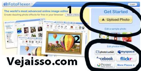 Como editar foots online e adicionar efietos com Fotoflexer