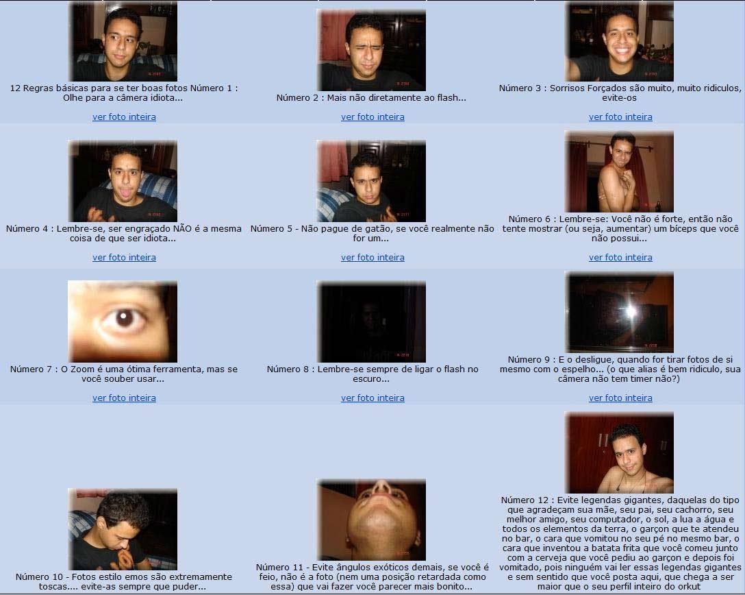 Tirar foto para orkut 2