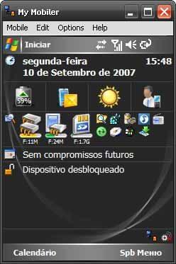 Foto do emulador de Windows Mobile 6 PDA para computador - Teste seus programas antes de instalar