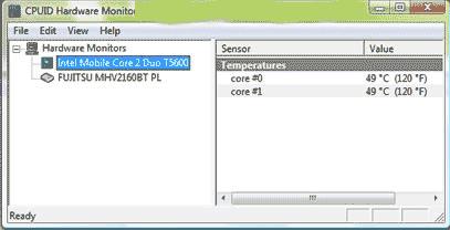 Programa monitor da temperatura do processador e do computador