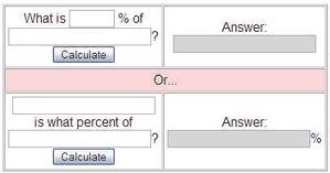 Calcular Porcentagem - Quanto porcentagem e quantos por cento é de