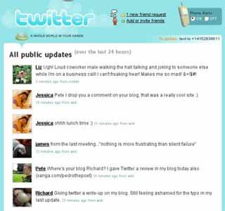 Twitter - Diferentes tipos de usuários mandam mensagem no Twitter