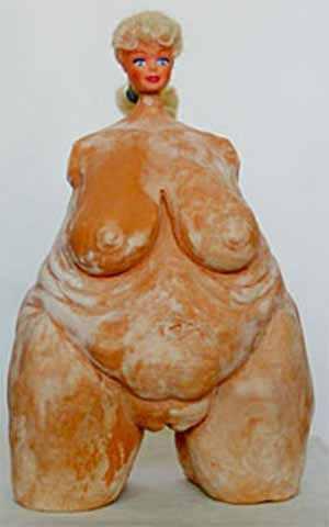Escultura da Barbie - Barbie obesa e gorda