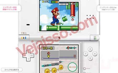 Comparação Nintendo DSi e DS - Tela maior, mais fino e câmera