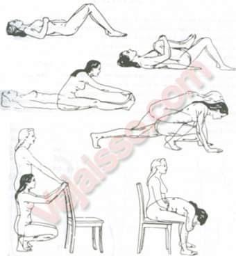 Aliviar Dor Lombar - Alongue-se de acordo com as figuras para aliviar dor nas costas e diminuir dor lombar
