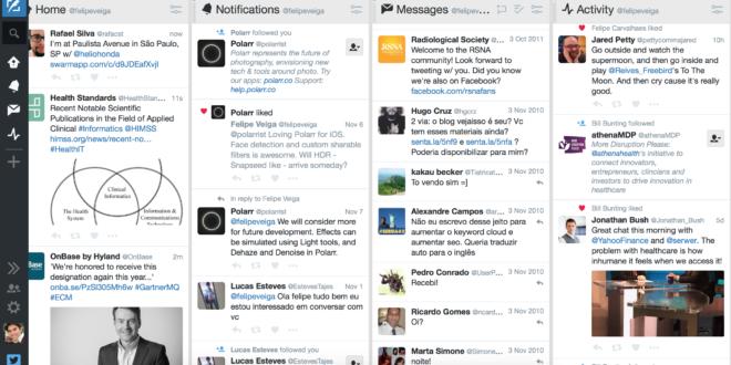 TweetDeck Online - Grátis para todo mundo