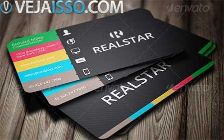 Comprar e fazer cartao de visita utilizando modelos profissionais, com custo entre 6 a 20 dolares em media por arquivo fonte Photoshop