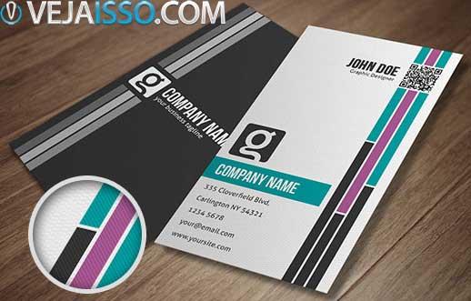 Modelos de cartoes de visita profissionais em PSD, prontos para usar e imprimir, desenhados por um profissional do ramo