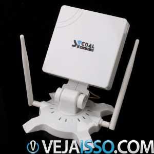 Signal King é uma antena direcional USB que consegue melhorar o sinal wifi captado pela sua placa wireless