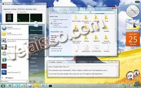 Transformar-Windows-Xp-e-Vista-em-Windows-7-Sete---Baixar-tema-para-mudar