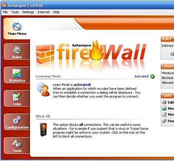 Ashampoo firewall - Um dos melhores firewall anti hacker para navegar na internet e usar seu PC tranquilo