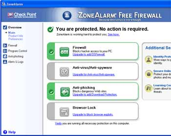ZoneAlarm Firewall - Excelente programa de firewall completo sem serial nem crack, desde windows XP!