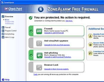 ZoneAlarm Firewall - Excelente programa de firewall completo sem serial nem crack, desde windows XP!