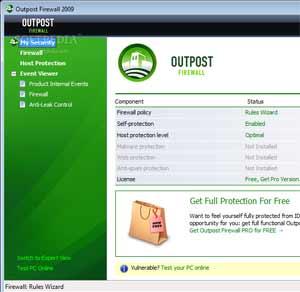 Outpost Firewall - Outro excelente top 5 firewall para defesa do computador de invasão pela internet