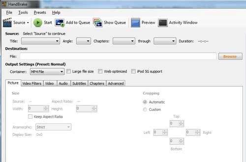 Handbrake - Top 3 software para salvar DVD em filme AVI no PC, PSP, iPhone, Celular