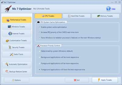 Otimizar Windows 7 - Deixar seu PC mais rapido programa para Tweak