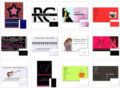 Cartão de Apresentação - Modelos de Cartões