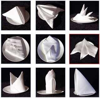 Como dobrar guardanapos de papel na mesa