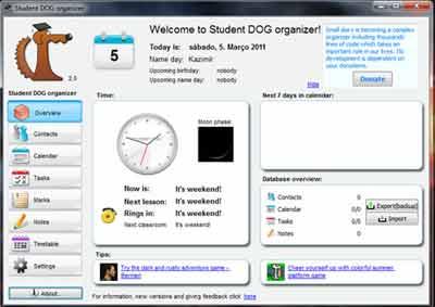 Agenda estudantes - Tarefas, Aulas, Horarios, Provas e Notas - Programa p/ Organizar