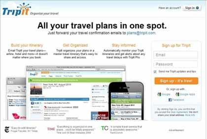 Organizador de viagem - Salvar seu roteiro e informacoes de Voos, Hoteis, Passeios em um so lugar