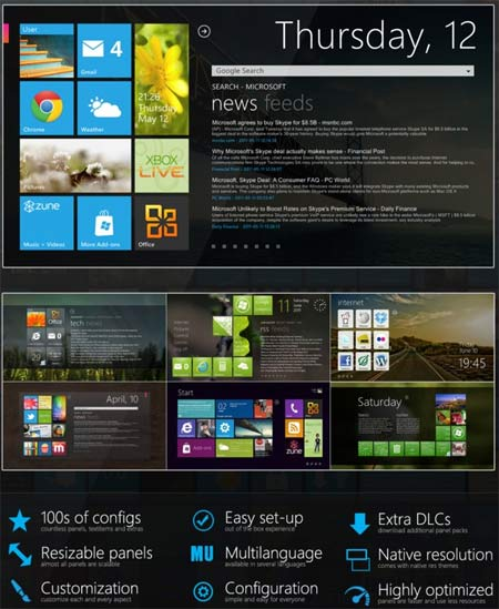 Baixar Tema do Windows 8 para Windows 7 e Vista GRATIS- Atualizar seu PC para Windows 8 Tile
