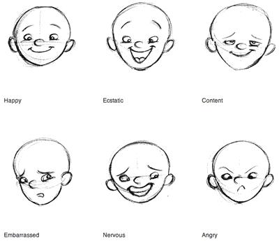 Como desenhar 50 expressões faciais - aprender desenhar rostos - Baixar apostila