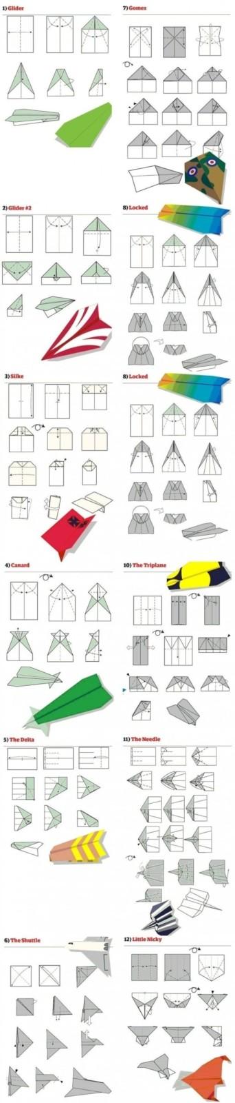 Como fazer avião de papel - origami de aviões de papel