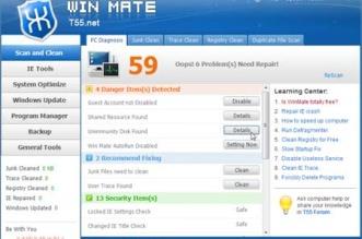 Win Mate - Melhor e mais simples programa para otimizar, limpar e acelerar o PC Windows 7, XP e 8