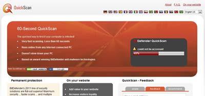 Bitdefender, um dos melhores sites para procurar virus no computador sem instalar antivirus no PC
