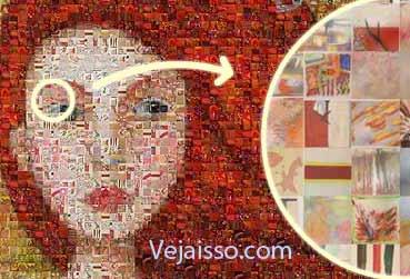 Criador de mosaico a partir das suas fotos e outras imagens online