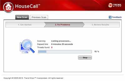 Trend HouseCall - Mais Completo site para verificar virus no PC, antivirus online gratis e completo