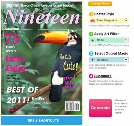 Posters Online - Criar um poster com fotos igual capa de revista