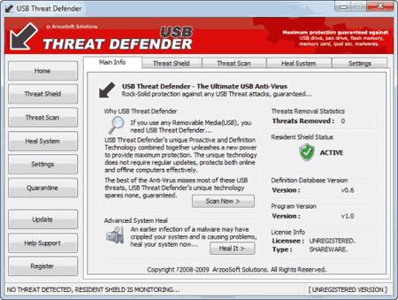 USB Theat Defender - Programa para fornecer segurança máxima anti-pendrive