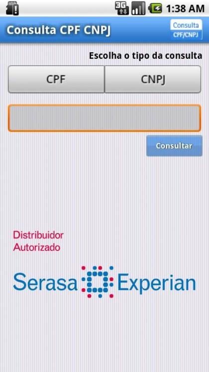 App para consultar CPF e CNPJ para celulares Android Smartphone