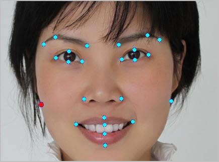 Photoshop em fotos automatico - Editar pontos para colocar maquiagem e efeitos