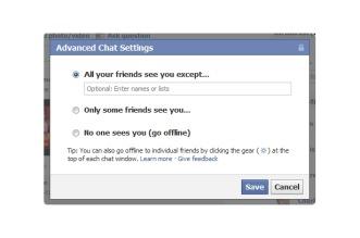 Como aparecer offline no chat do Facebook somente para uma pessoa