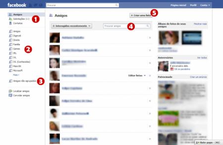 Criar uma lista no Facebook