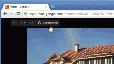 Google+ Plus - Editor de fotos online do Google