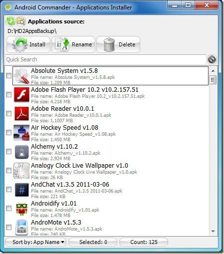 Instalar Apps, Atualizar e Fazer Backup para o computador