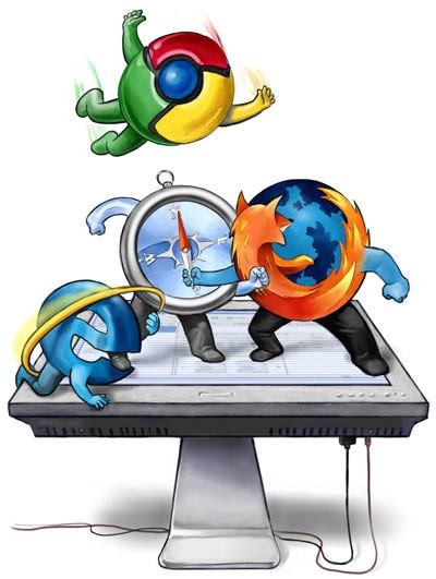 Navegador seguro como Chrome do Google, Mozilla Firefox ou Safari do Mac