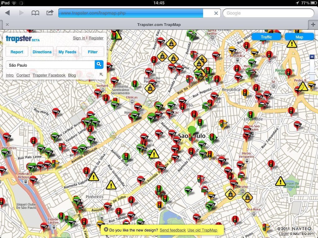 Mapa de radar de qualquer cidade - Radares de velocidade e semáforo