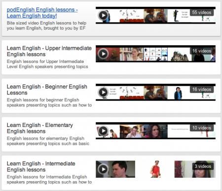 EF PodEnglish - Aulas categorizadas para aprender a falar inglês