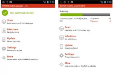 IKARUS mobile Security Lite - Simples e efetivo antivirus para seu celular e tablet