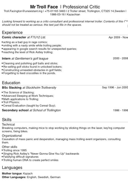 Modelo forma de currículo vitae para entrevista de emprego, concurso, trainee, estagio