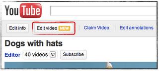 Utilize o editor de vídeo do Youtube depois de ter enviado seu video para deixa-lo profissional