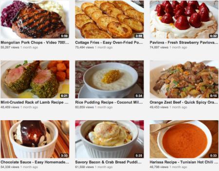 Comidas desejadas - Os melhores vídeos sobre como cozinhar pratos principais do Youtube